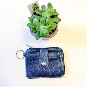 Claire's small Metallic dark blue wallet